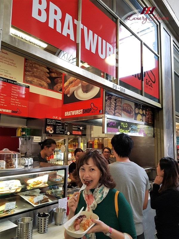 queen victoria market bratwurst shop review