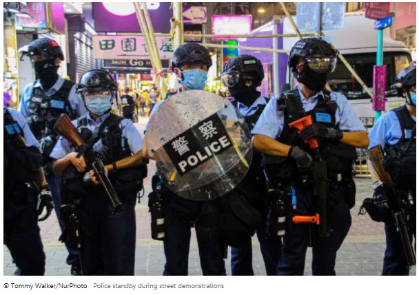 In a letter to China, UN experts announced the decision on Hong Kong's security law