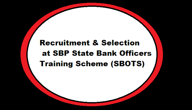 Recruitment & Selection at SBP  State Bank Officers Training Scheme (SBOTS)