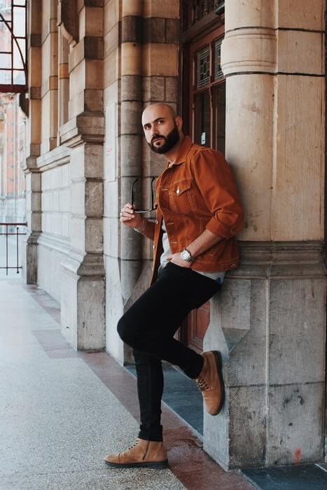 15. Male Poses Wall Photo Shoot