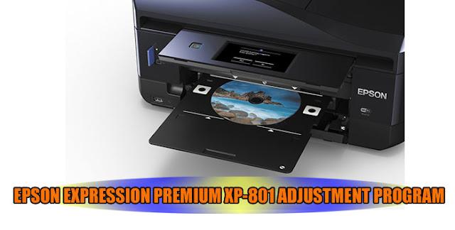 EPSON EXPRESSION PREMIUM XP-801 PRINTER ADJUSTMENT PROGRAM