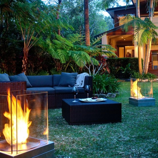 53 Most Amazing Outdoor Fireplace Designs Ever: Ideas For Amazing Garden Lighting Decoration