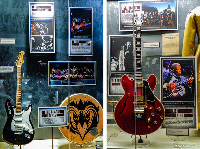 Nashville: guitarras de  King e de Joe Bonamassa no Museu do Ryman Auditorium