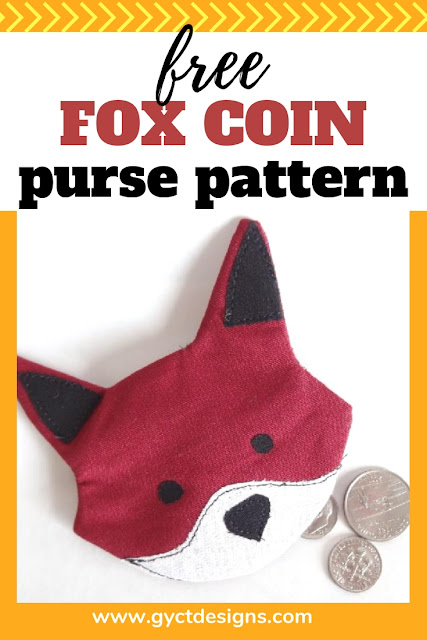 Step by step sewing tutorial and free pdf pattern pieces to make your own simple coin purse pattern.