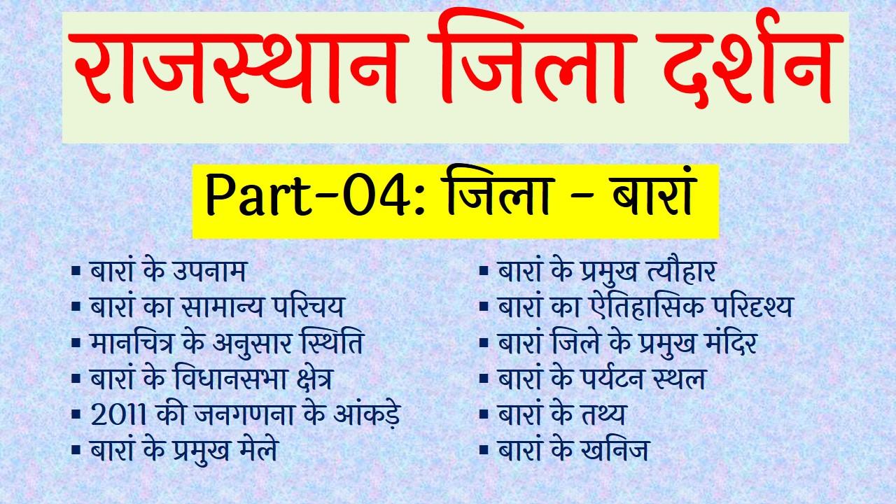 baran gk in hindi, raj gk, india gk, baran ke fact, baran district gk in hindi