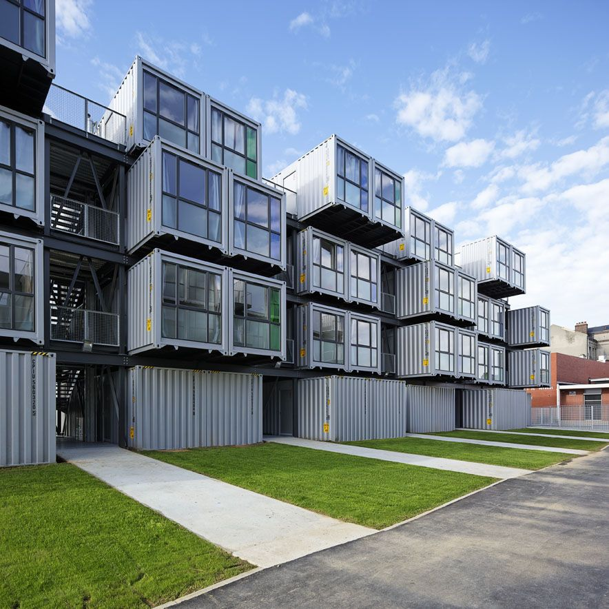 Apartment Community: Shipping Container Homes: Cattani Architects, Cité A Docks