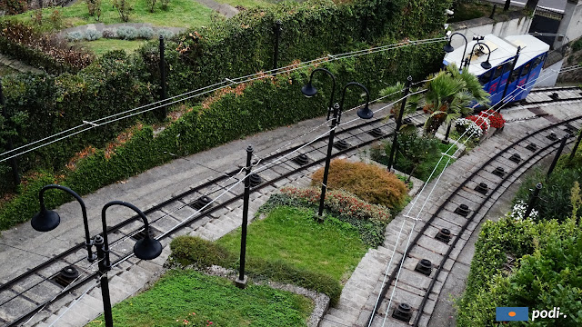 Funicolare che sale alla città alta, Bergamo