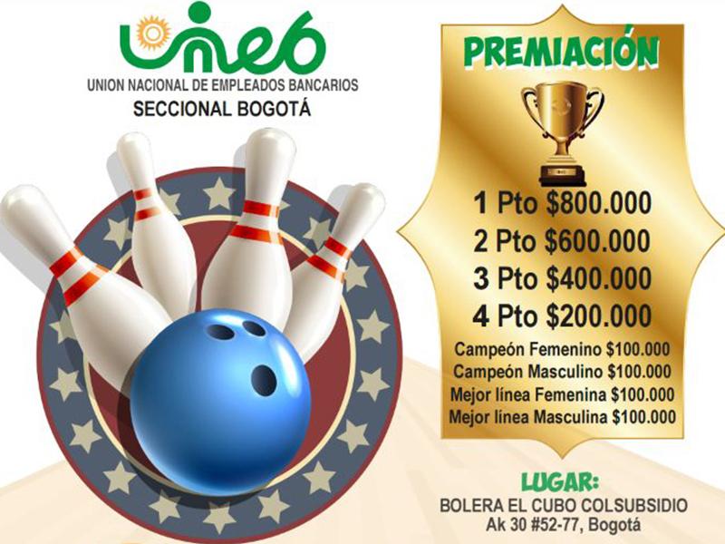 Primer torneo interbancario de la Bolos Mixto