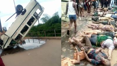 Graphic Photos From Scene Of The Freak Accident That Claimed 32 Lives In Ebonyi