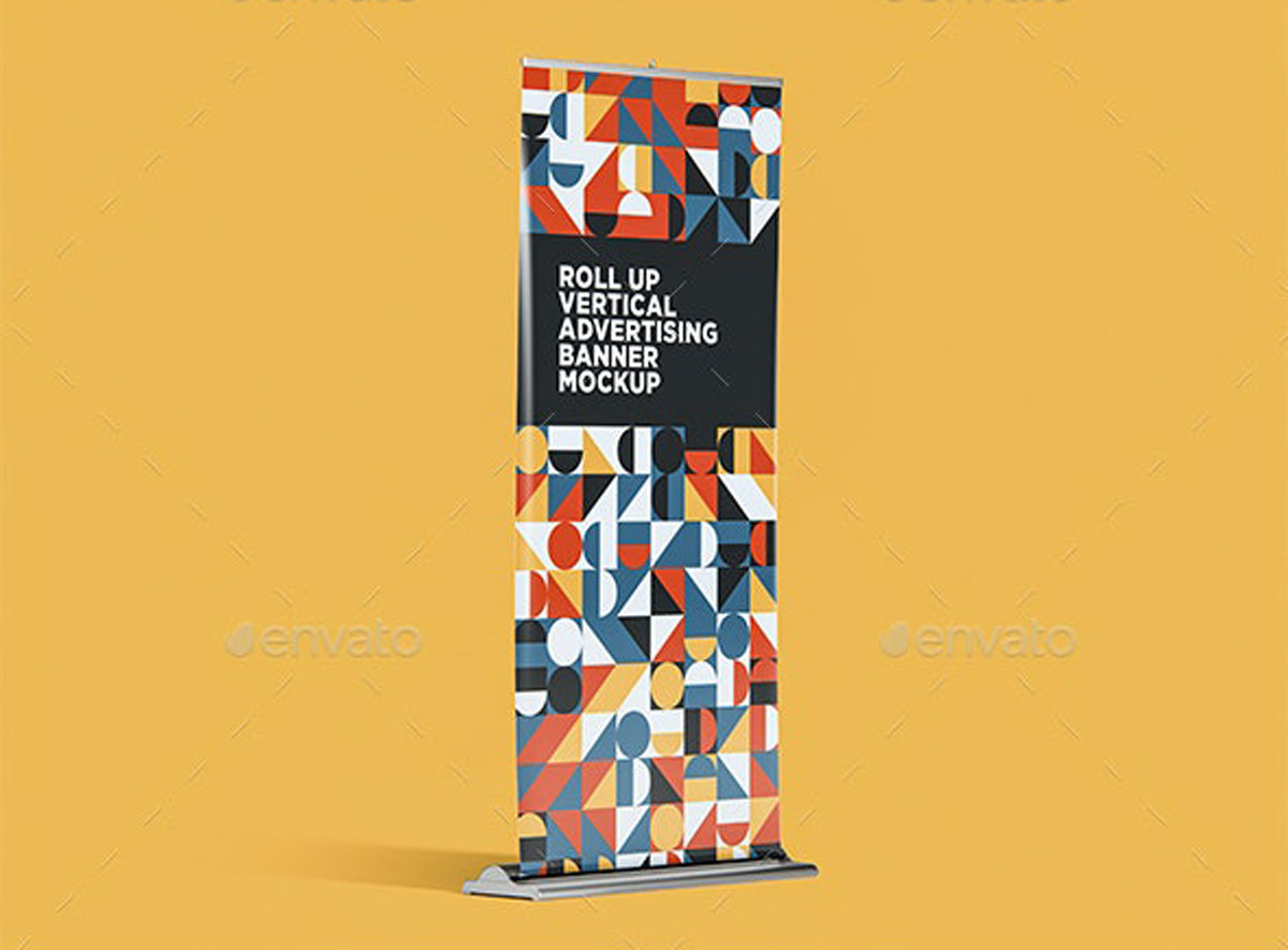 Roll Up Vertical Advertising Banner Mockup 001 27533574 g