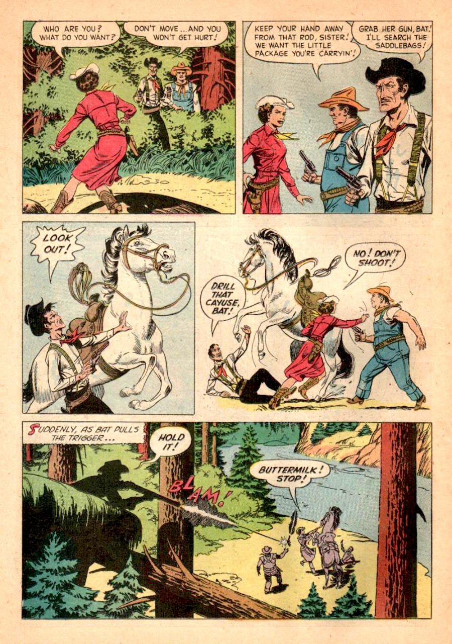Russ Manning western dell golden age 1950s comic book page - Queen of the West Dale Evans #7