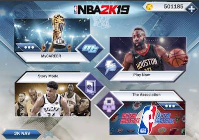 NBA2k19 apk mod modded obb data download free AGO - AndroidGamesOcean