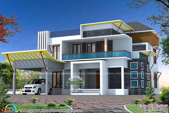 355 sq-yd modern contemporary home