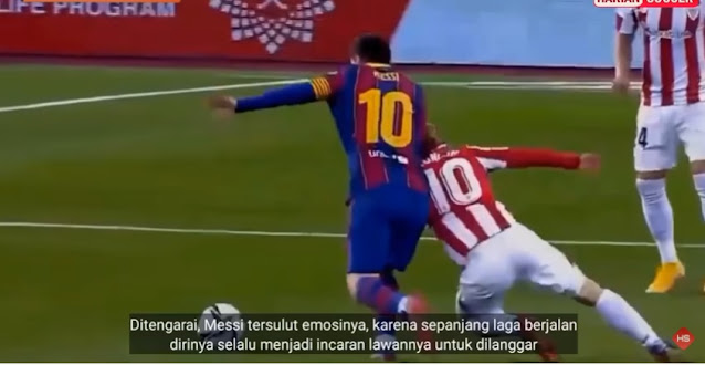 Dramatis! Sang Megah Bintang Messi Kena Kartu Merah dan usir