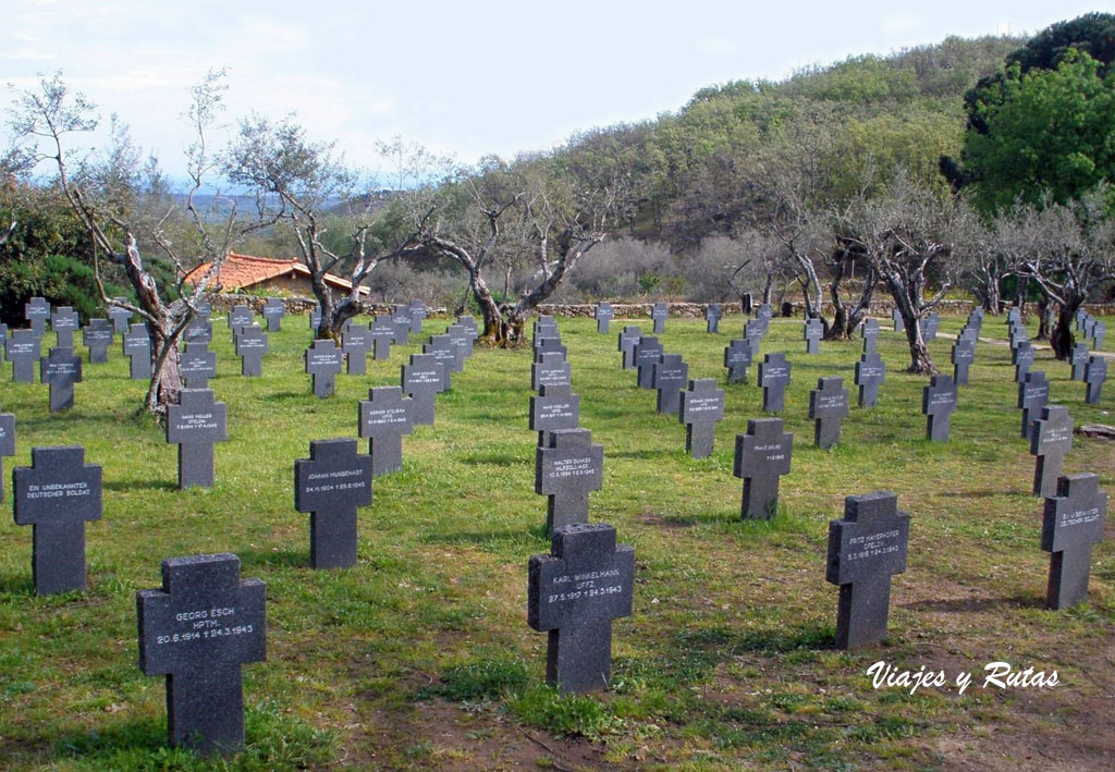 Cementerio aleman, Cuacos de Yuste