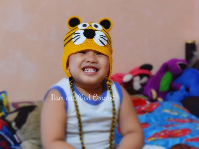 crochet, tiger hat, hat