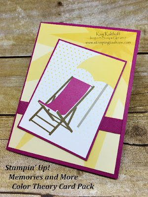 Color Theory Card Pack Summer Card, Memories and More from Stampin' Up! by Kay Kalthoff, Stamping to Share!