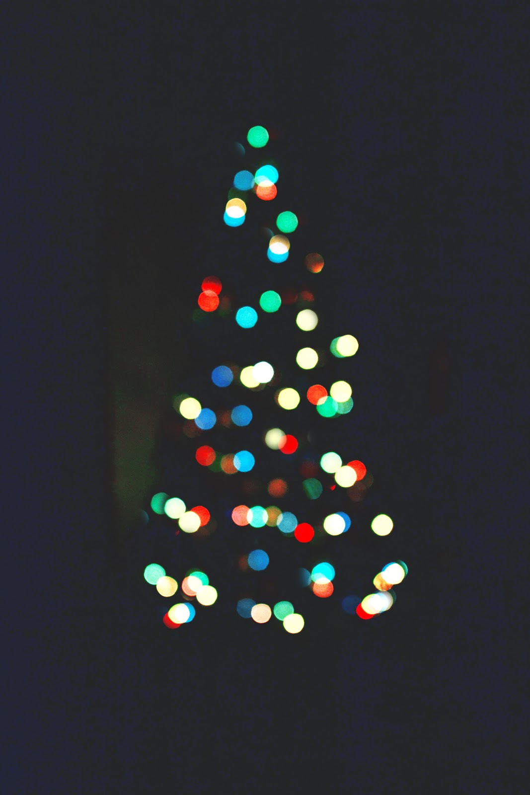 bokeh fairy lights, christmas tree lights