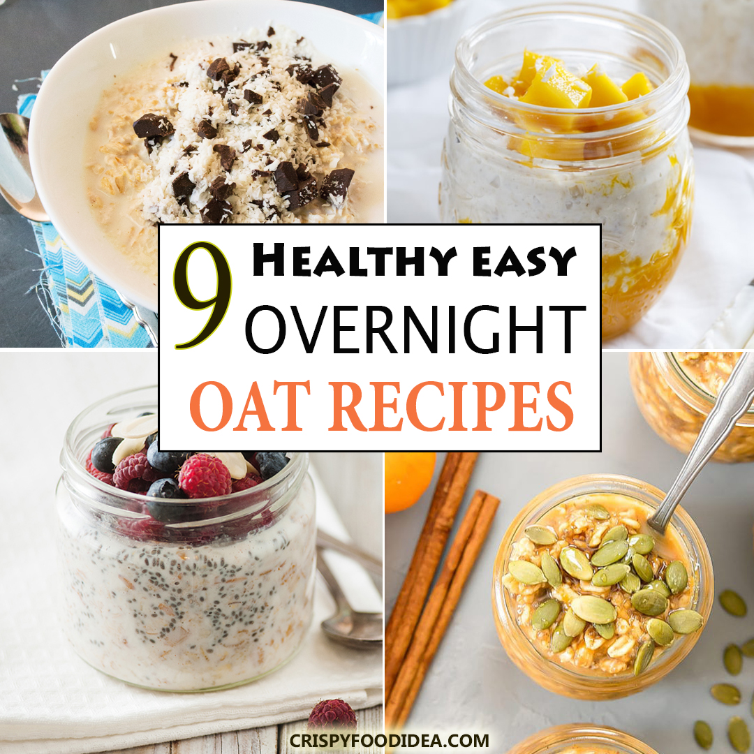 healthy overnight oat recipes in a jar
