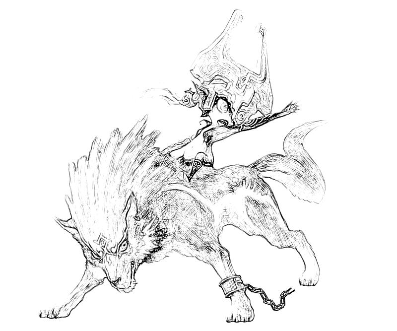 Coloring pages of link from twilight princess coloring pages for Midna coloring pages