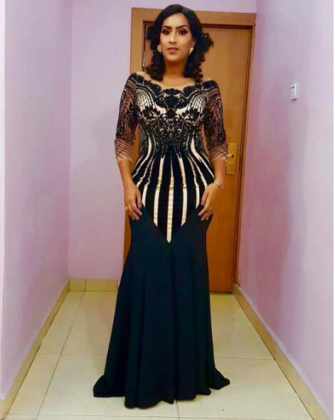 More pictures of Juliet Ibrahim's beautiful dress for AMAA 2016