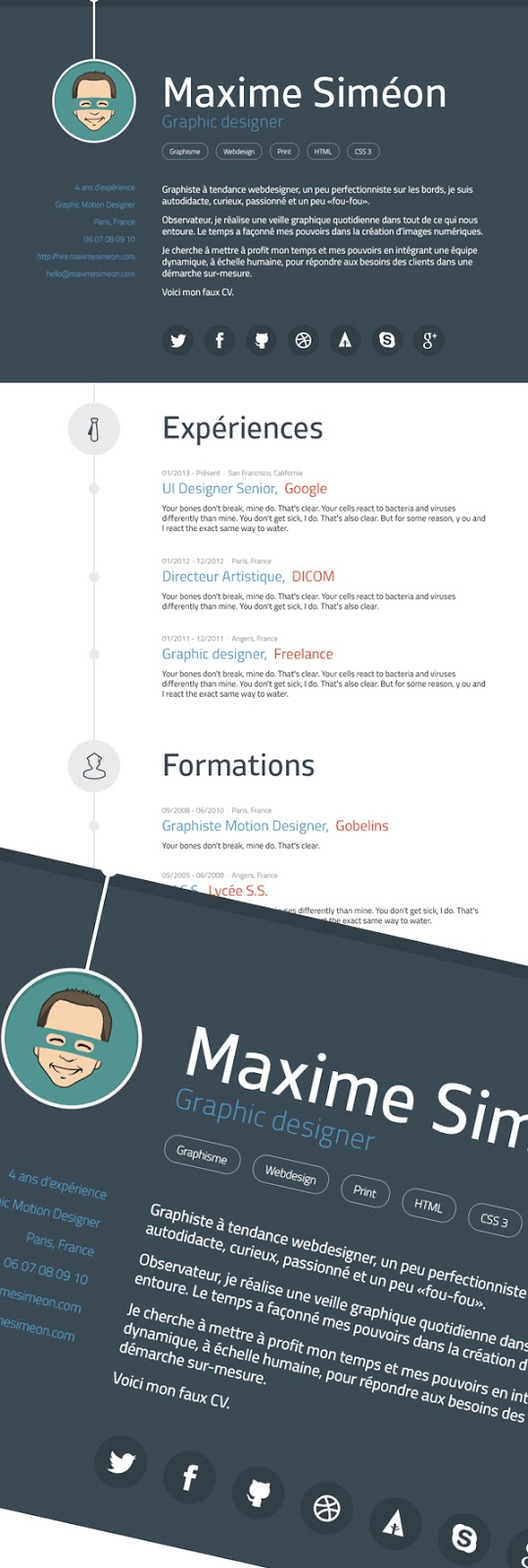 Curriculum Vitae Design Inspiration Considered Design