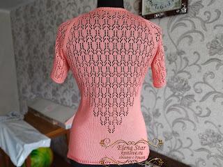 спинка футболки с ажурной спинкой