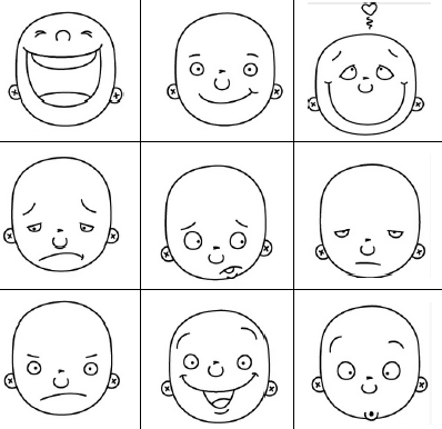 Printable facial expressions