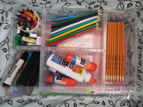 Organizing a Homework Station for Back to School
