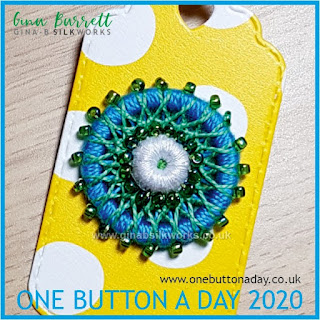 One Button a Day 2020 by Gina Barrett - Day 168 : Gyre