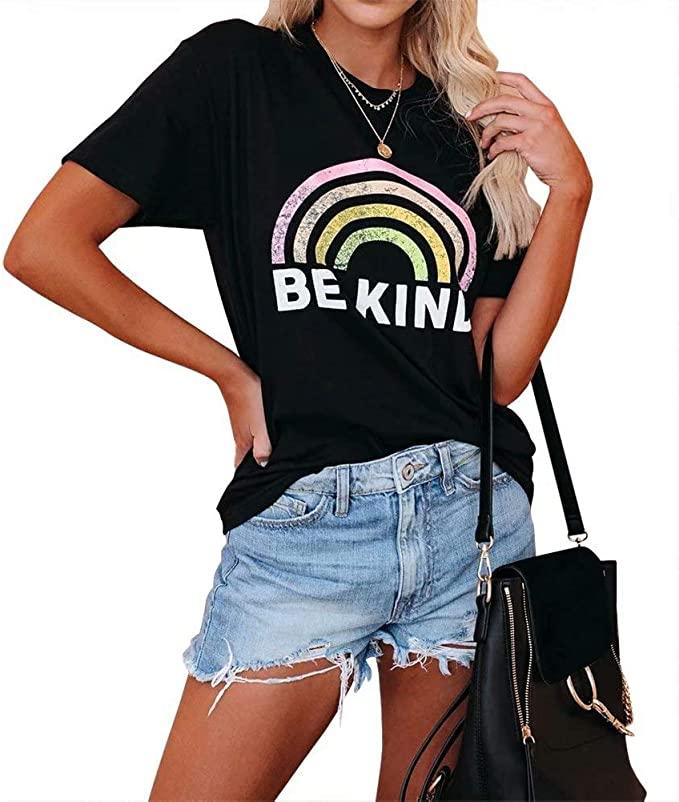 40%OFF  Dressmine Women Short Sleeve Graphic Tee Shirt