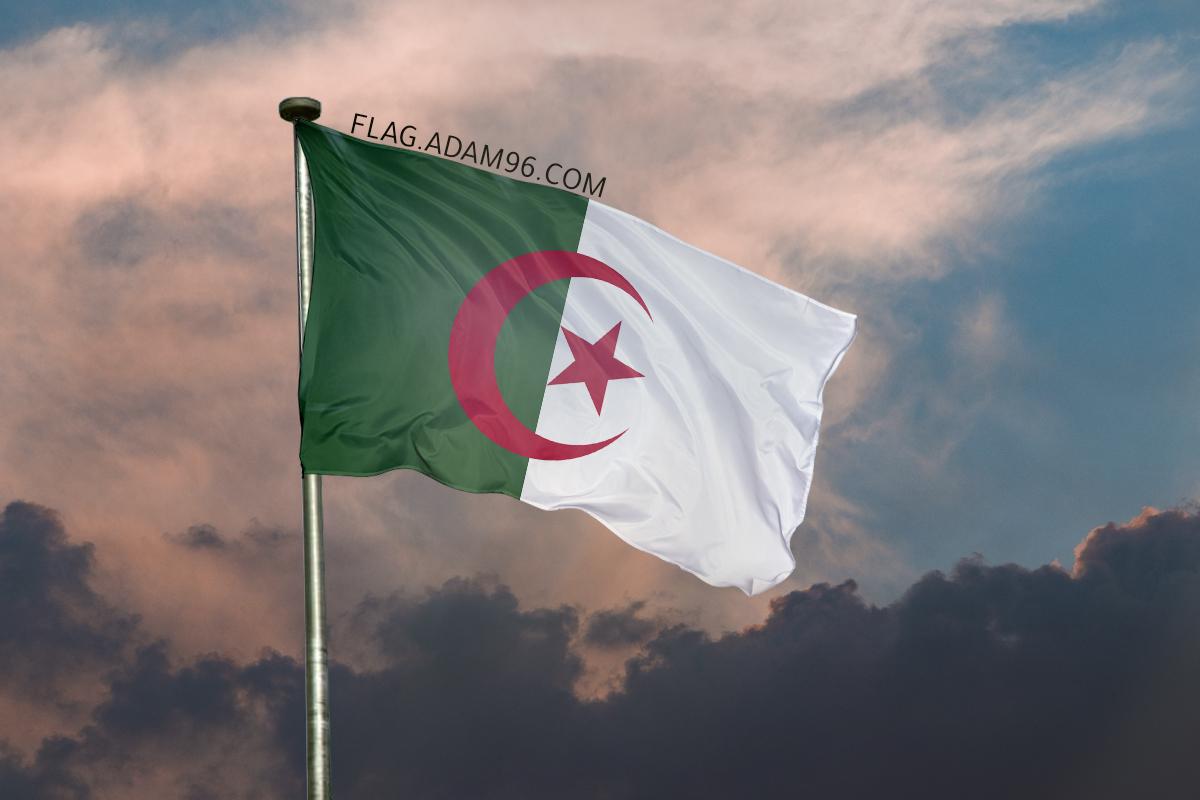 اجمل خلفية علم الجزائر يرفرف في السماء خلفيات علم الجزائر 2021