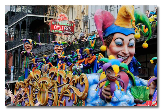 Elaborate Mardi Gras floats