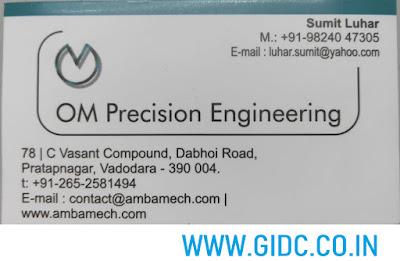 OM Precision Engineering - 9824047305