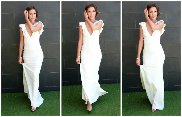 Fitness And Chicness-Top Queens Bridal White Maxidress-1