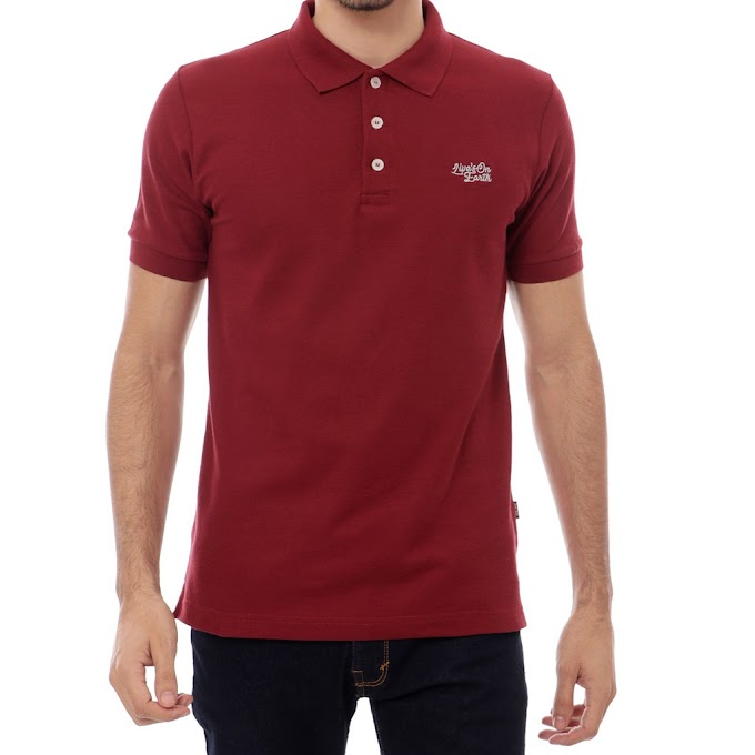 Polo Shirt Pria Premium Rubby Maroon