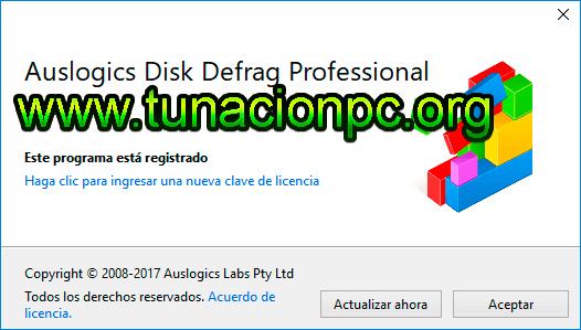 Auslogics Disk Defrag Pro, Recupera Espacios Vacios del Disco Duro