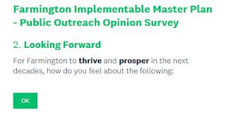 #FarmingtonNH Implementable Master Plan - Public Outreach Opinion Survey