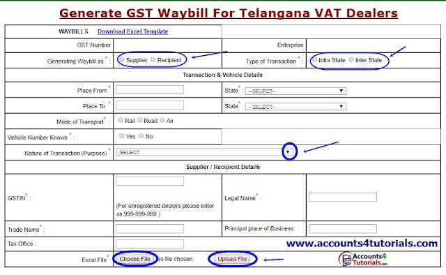 generation of gst waybill for telangana dealers