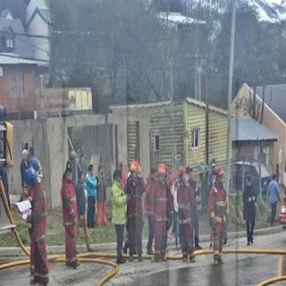 Incendio en carpinteria en Ushuaia