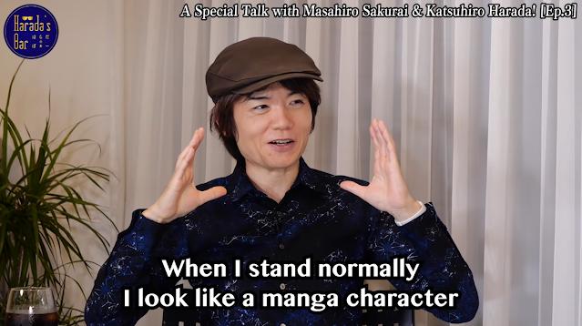 Masahiro Sakurai wearing wide brimmed detective hat look like manga character Katsuhiro Harada bar