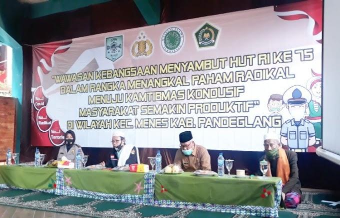 Jajaran Polres Pandeglang Gelar Seminar Wawasan Kebangsaan di Ponpes Manlu Menes