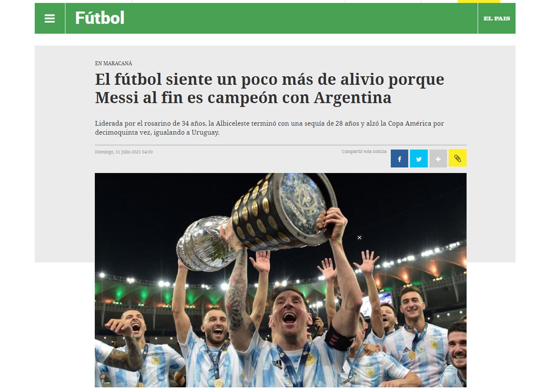 Argentina campeón de la Copa América 2021