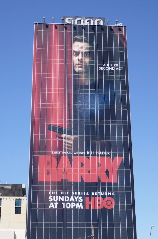 Giant Bill Hader Barry season 2 billboard