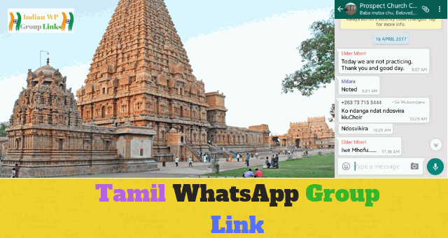 175+ Best Tamil Whatsapp Group link List 2019