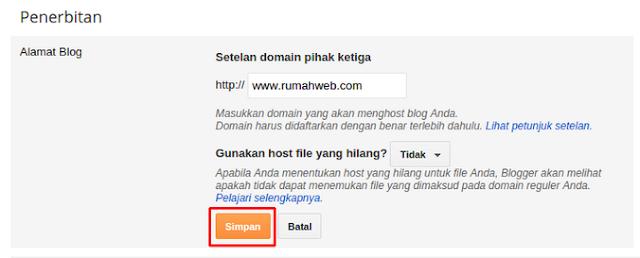 Panduan Setting Custom Domain di Blogger (Lengkap)