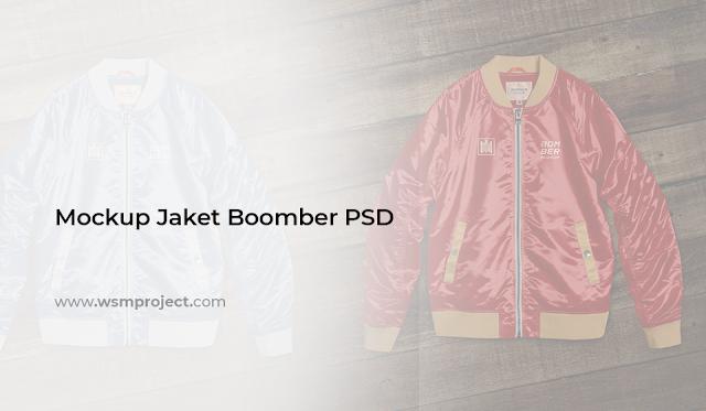 Mockup Jaket Boomber PSD Siap Download