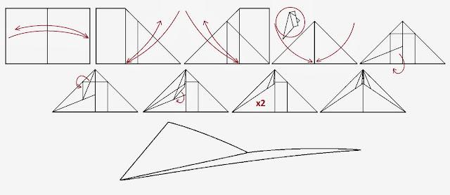 Avión de papel Wing 38