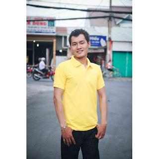 áo thun nam màu vàng