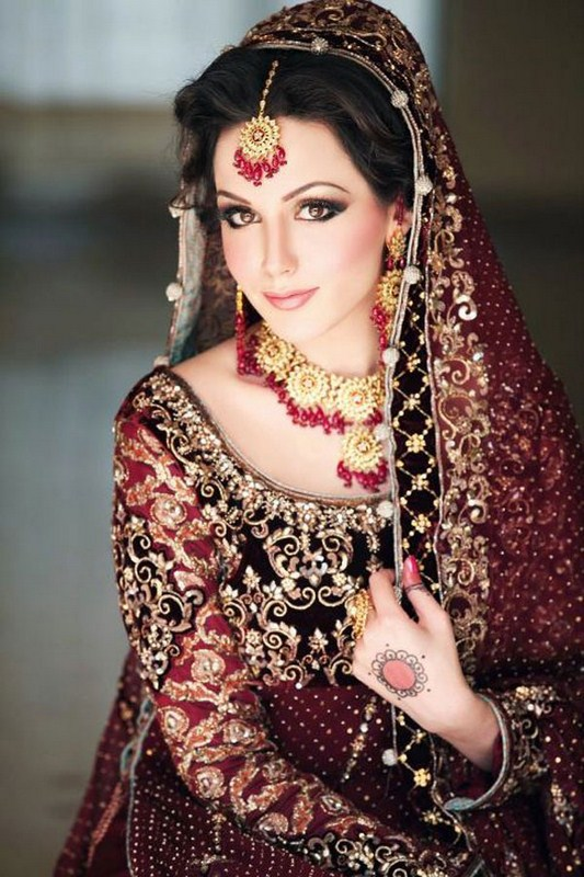 New winter bridal dress pakistani pakistani wedding Fashion style in pakistan 2013